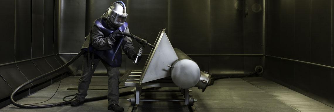 Strahlkabine Glasperlenstrahlen Edelstahl
