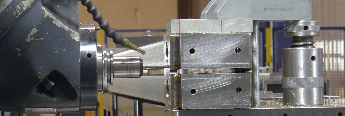 Edelstahlbearbeitung Detail Fräskopf
