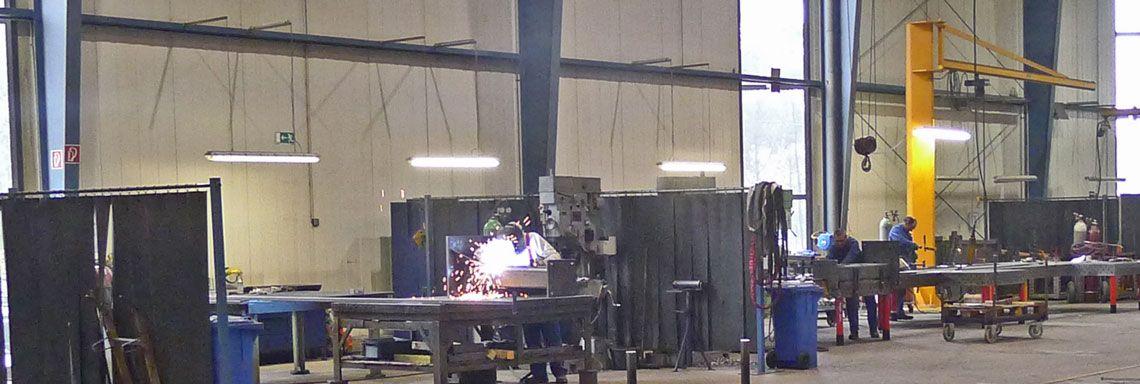 Ansicht der Halle Metallbau Stahl Schweissen