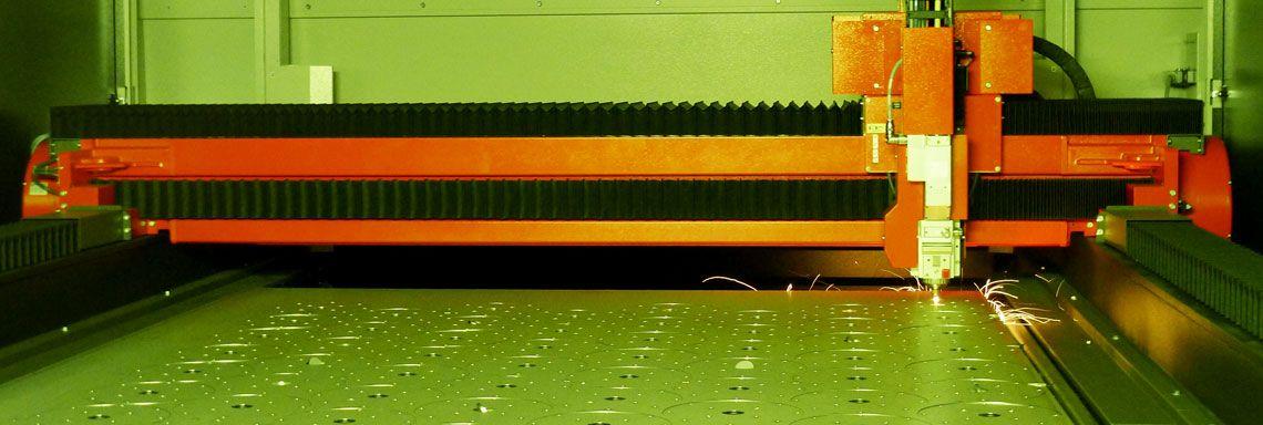 Laserschneiden Schneidkopf mit Faserlaser
