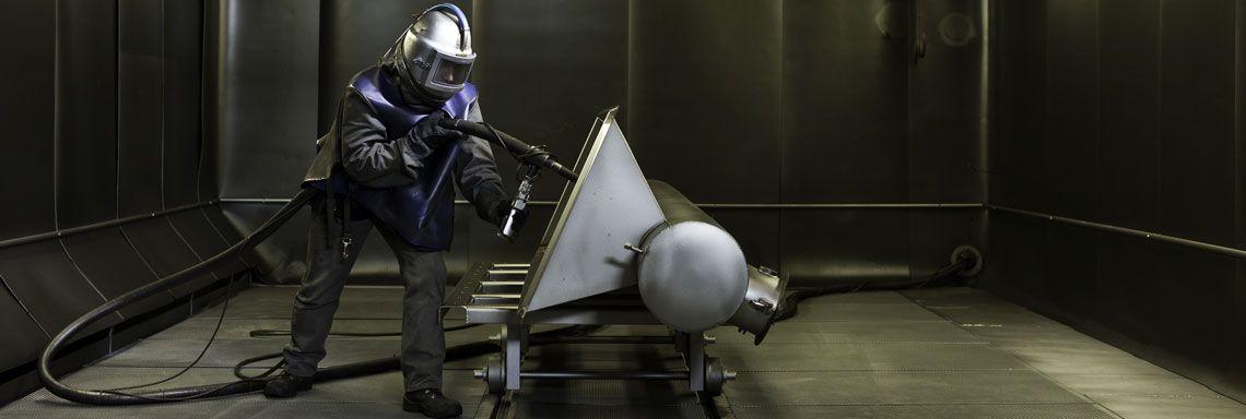 Strahlkabine Edelstahlverarbeitung