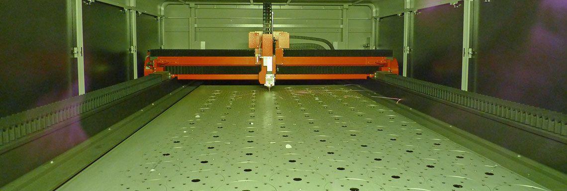 Laserschneiden Edelstahlflansch 6mm
